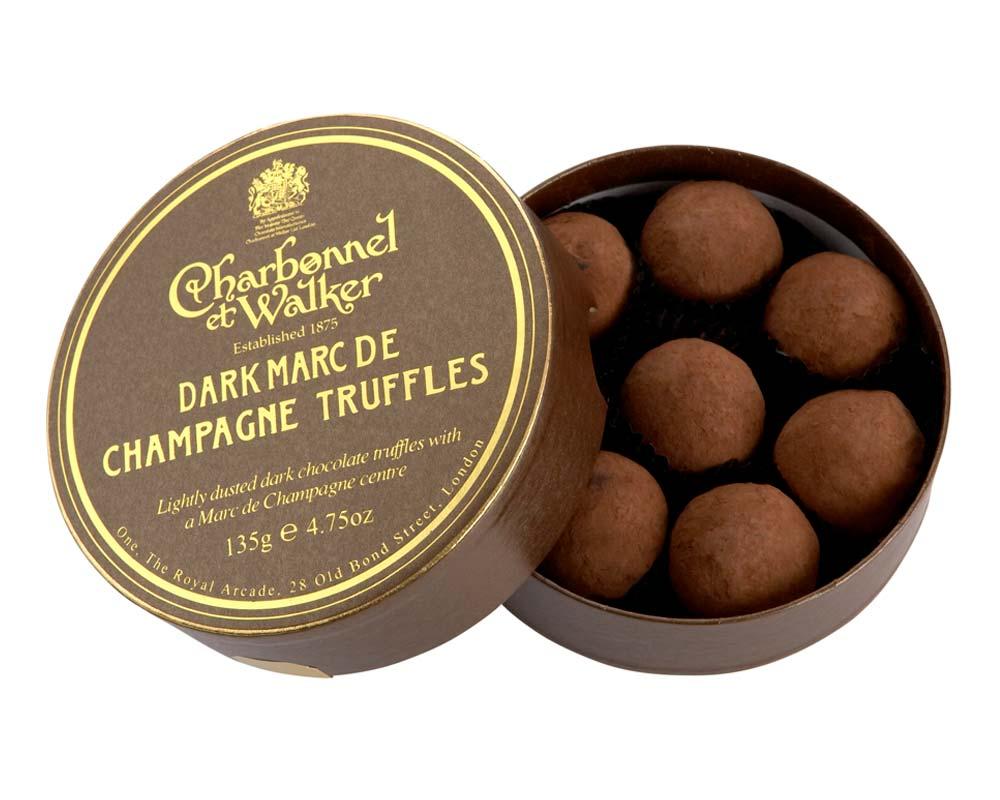 Dark Marc de Champagne Chocolate Truffles