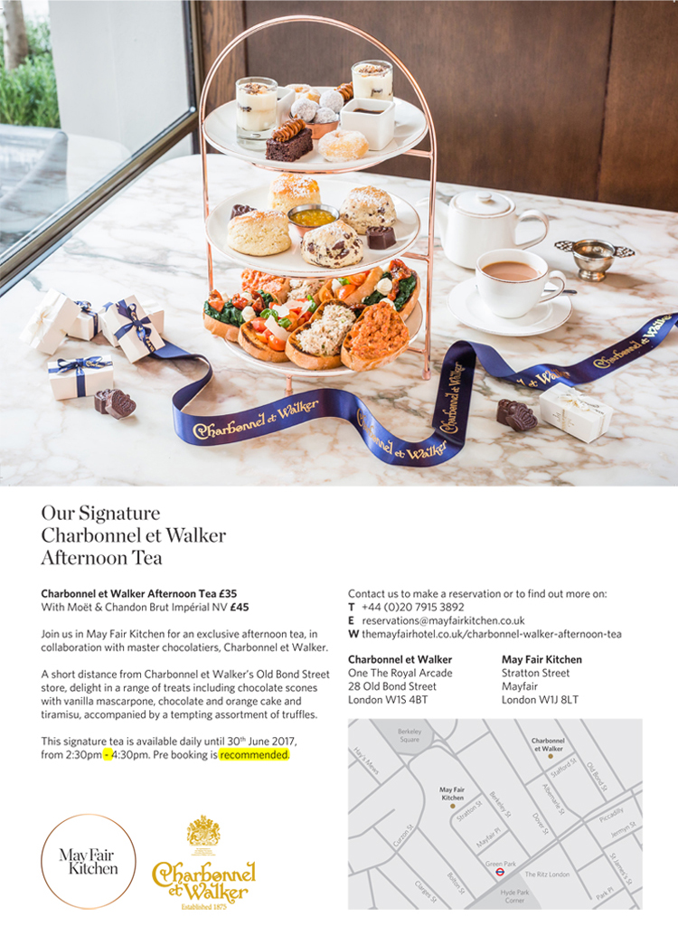 Introducing the Charbonnel et Walker/ May Fair Hotel Afternoon Tea!