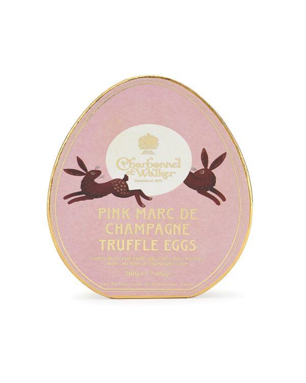 Easter Oval Pink Marc de Champagne Mini Truffle Eggs Gift Box