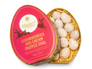 Easter Oval Strawberries & Cream Mini Truffle Eggs Gift Box