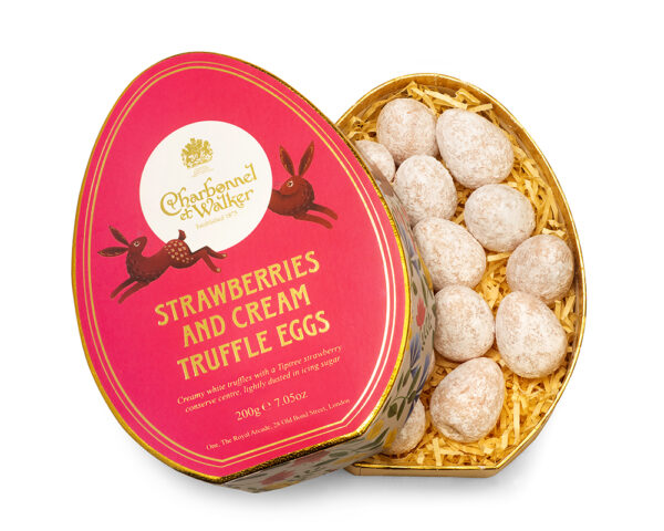 Easter Oval Strawberries & Cream Mini Truffle Eggs Gift Box